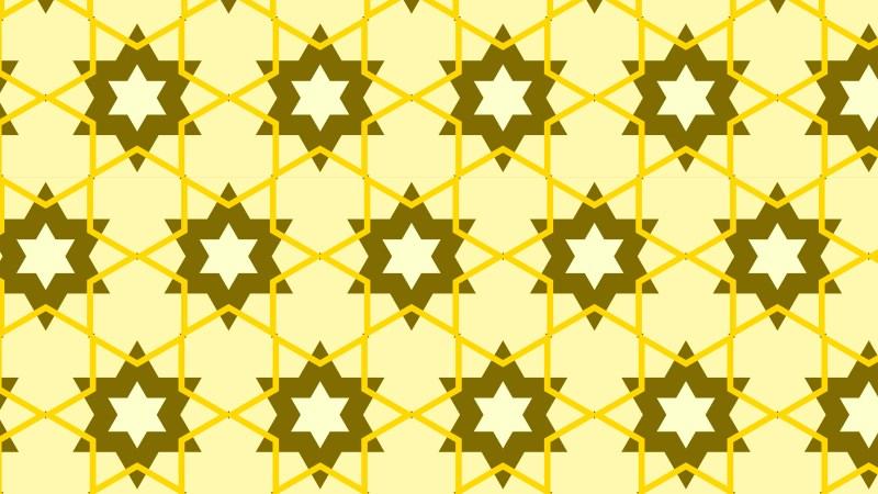 Yellow Star Pattern Background Vector Art
