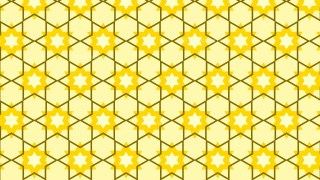 Yellow Star Background Pattern Graphic