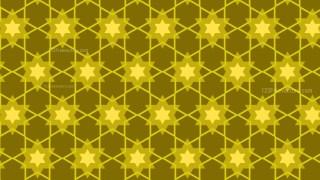 Yellow Seamless Stars Pattern Background Vector
