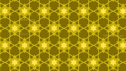 Yellow Seamless Stars Pattern Background Vector