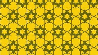 Yellow Stars Pattern Background