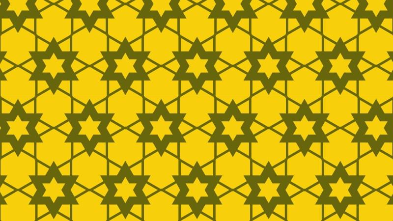 Yellow Stars Pattern Background