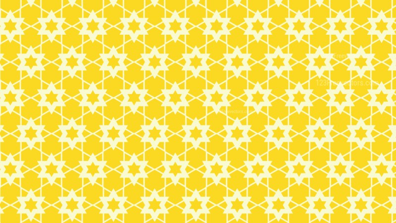 Yellow Seamless Stars Pattern Background