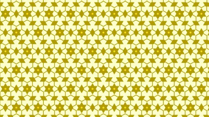 Yellow Star Pattern Design