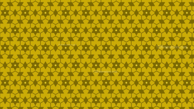 Yellow Star Background Pattern Vector Graphic
