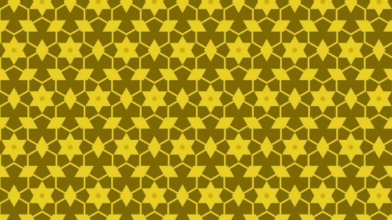 Yellow Seamless Star Pattern Vector Image