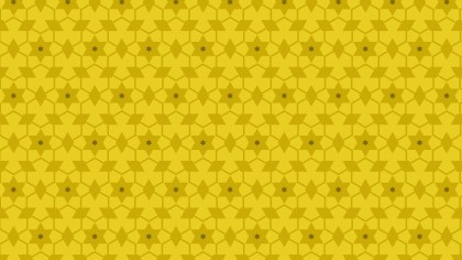 Yellow Seamless Star Background Pattern Vector Illustration