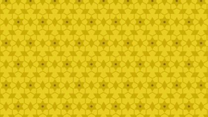 Yellow Seamless Star Background Pattern Vector Illustration