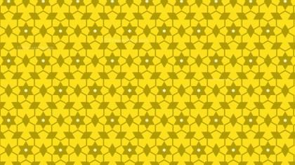 Yellow Seamless Stars Pattern Background Design