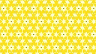 Yellow Seamless Stars Background Pattern Image