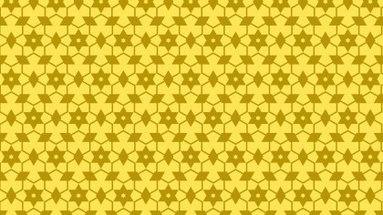 Yellow Seamless Star Pattern