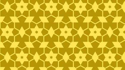 Yellow Seamless Star Pattern Background