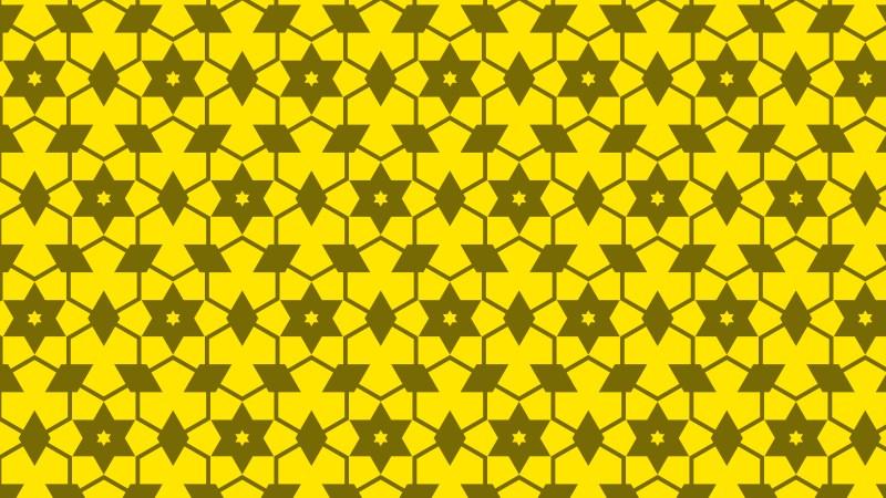 Yellow Seamless Star Background Pattern