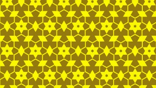 Yellow Stars Background Pattern