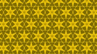 Yellow Seamless Stars Background Pattern