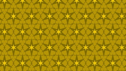 Yellow Star Pattern Background Vector Illustration