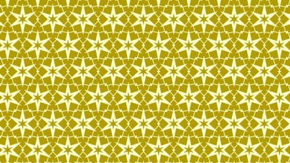 Yellow Seamless Star Pattern Vector Art