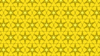 Yellow Seamless Star Pattern Background Graphic