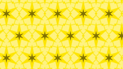 Yellow Stars Background Pattern Vector Graphic