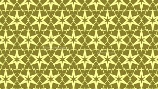 Yellow Seamless Stars Pattern Background Illustrator