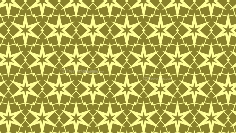 Yellow Seamless Stars Pattern Background Illustrator