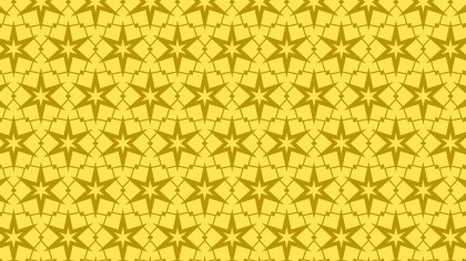 Gold Seamless Stars Background Pattern Vector Illustration