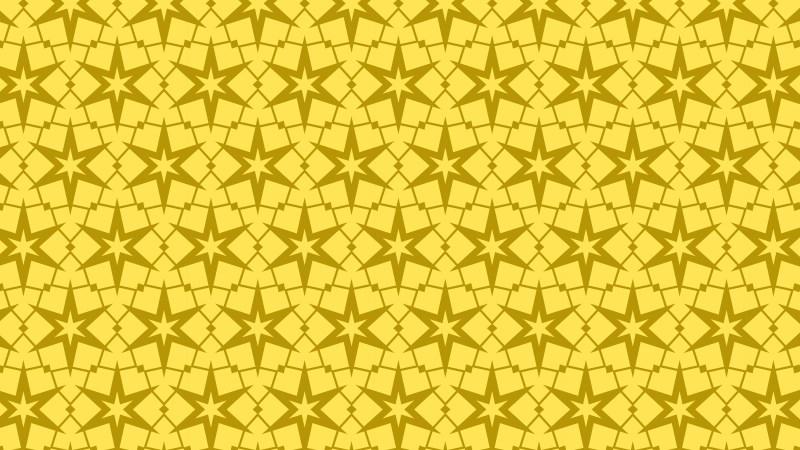 Gold Seamless Stars Background Pattern Vector Illustration