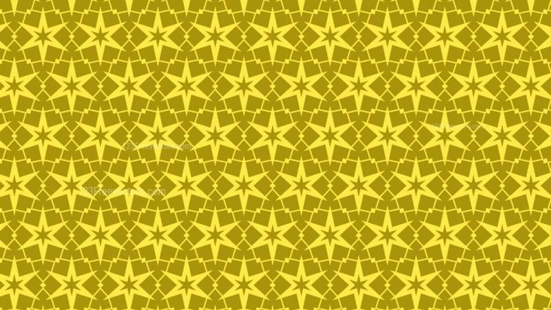 Gold Star Background Pattern