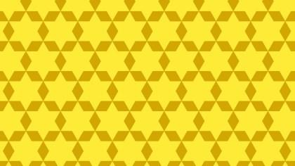 Yellow Seamless Stars Pattern