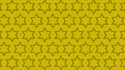 Yellow Stars Pattern Background Vector Illustration