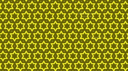 Yellow Seamless Stars Pattern Background Graphic
