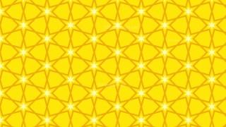 Yellow Star Background Pattern