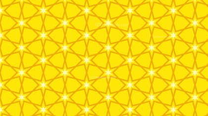 Yellow Star Background Pattern
