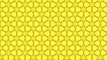 Yellow Seamless Stars Pattern Background