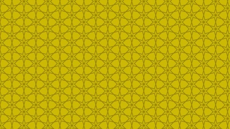 Gold Seamless Star Pattern Vector Illustration