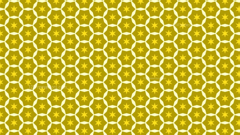 Yellow Seamless Stars Pattern Background Vector Graphic