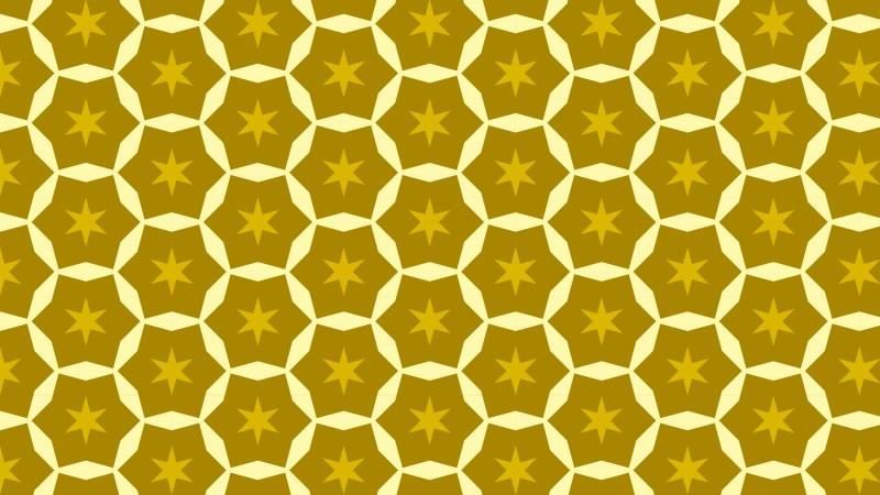 Yellow Seamless Star Pattern