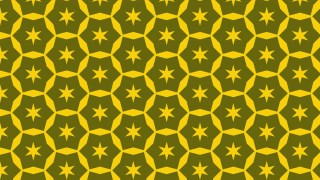 Yellow Seamless Star Background Pattern