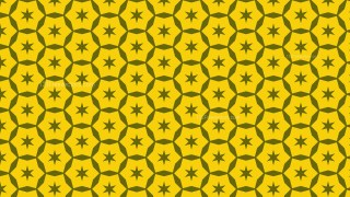 Yellow Stars Pattern