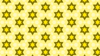 Yellow Seamless Stars Pattern