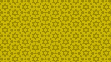 Gold Seamless Stars Background Pattern