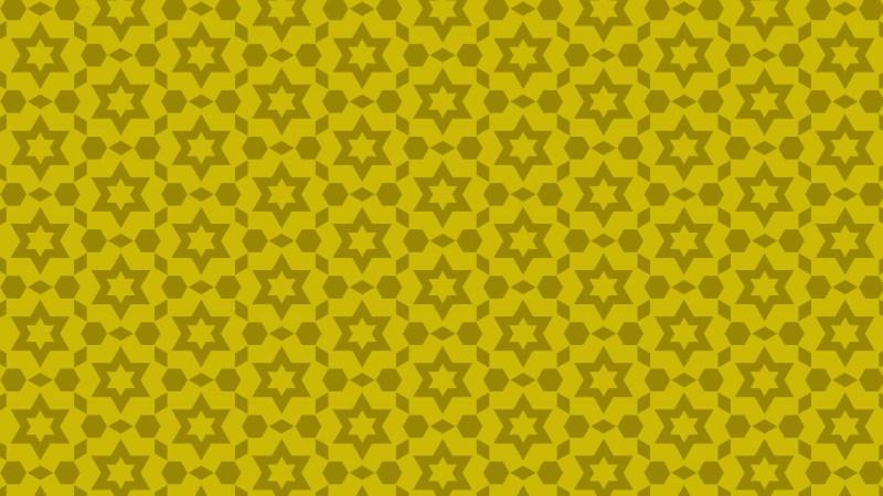 Gold Seamless Stars Background Pattern