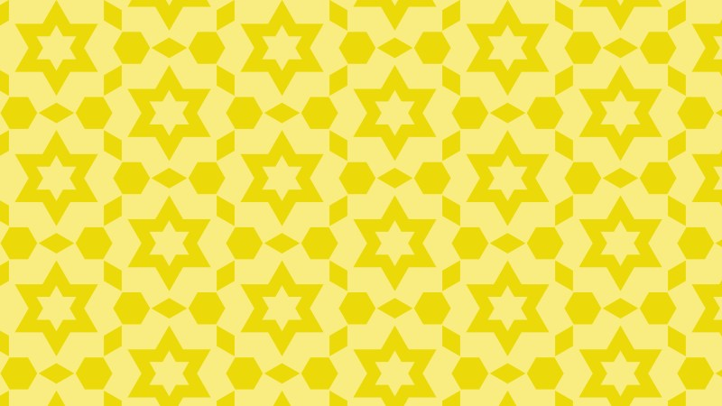 Yellow Star Pattern Background Vector Art