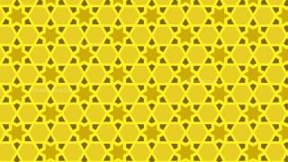 Yellow Seamless Star Pattern Illustration