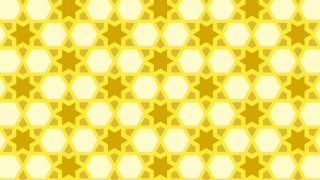 Yellow Seamless Star Pattern Background Design