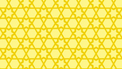 Yellow Stars Pattern Vector Graphic