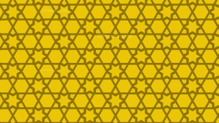Yellow Stars Pattern Background Vector Image