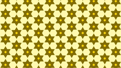 Yellow Stars Background Pattern Illustrator
