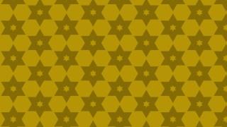 Yellow Seamless Stars Pattern Vector Illustration