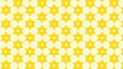Light Yellow Seamless Stars Pattern Background Vector
